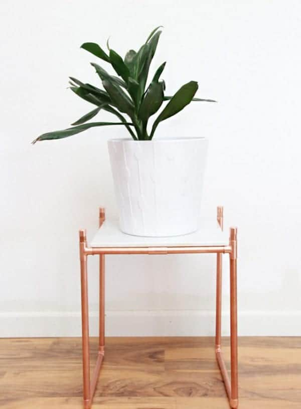 Pikidilly – DIY COPPER PIPE MARBLE PLANT STAND