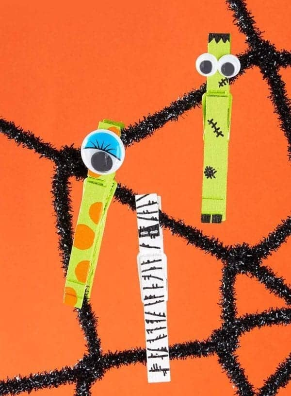 Kids' Spooky Monster Clothespins