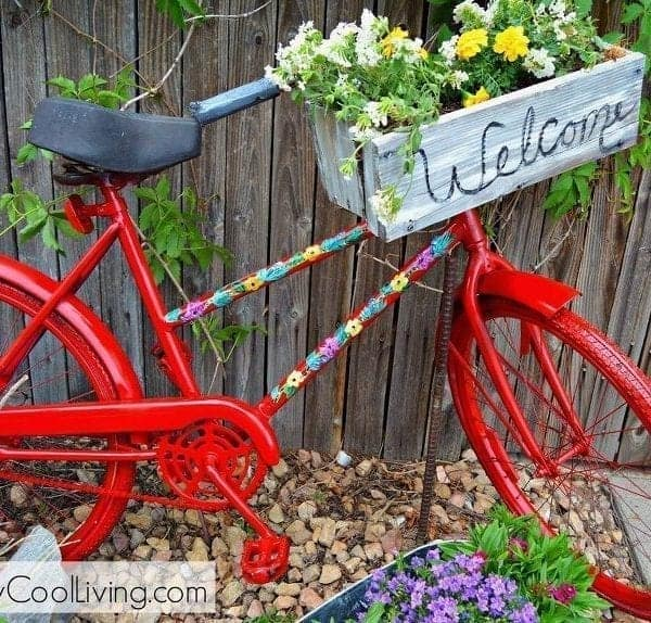 Repurposed Garden Bike