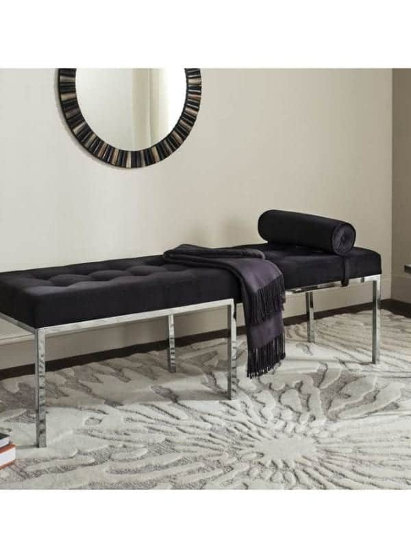 Safavieh Xavier Contemporary Black Accent Bench