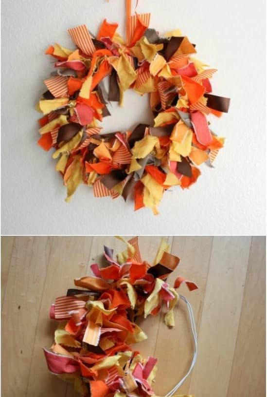 DIY Autumn Fabric Wreath