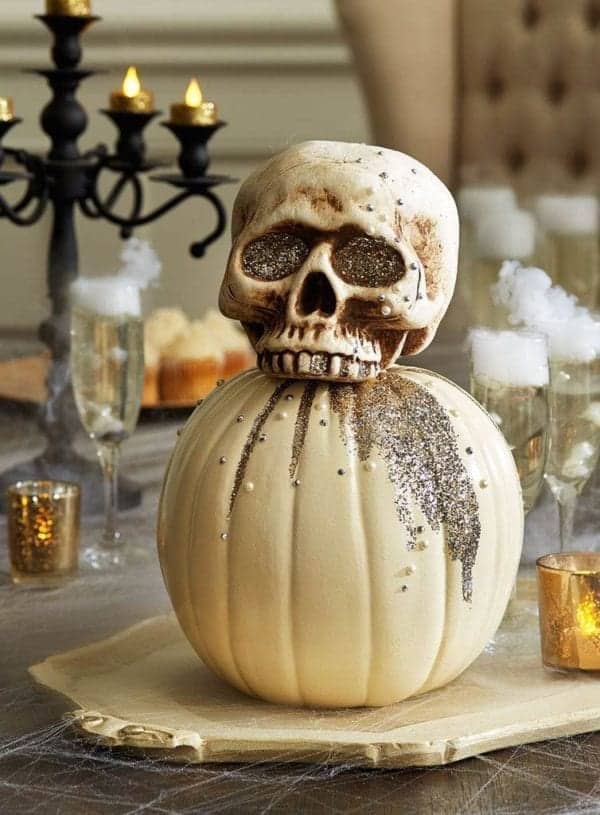 Spooky Skeleton Pumpkin