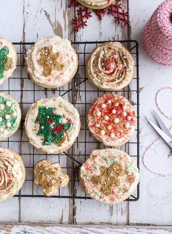 Easy Slice 'n' Bake Vanilla Christmas Sugar Cookes