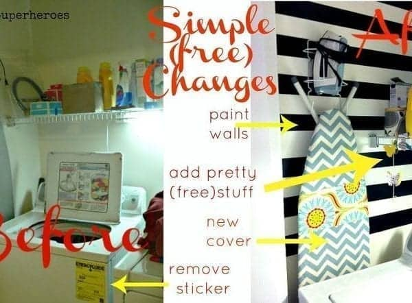 My Completely Free Laundry Room Makeover