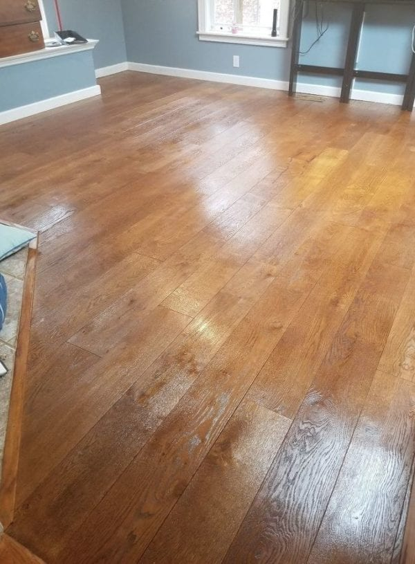 Staining and Sealing a Wood Floor