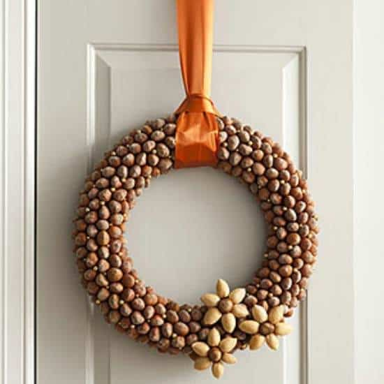 Gorgeous DIY Acorn Wreath