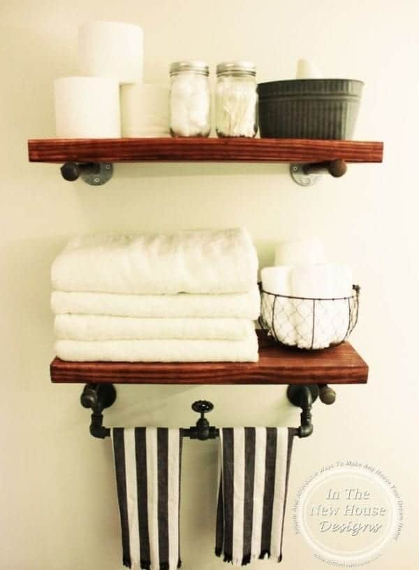 DIY Industrial Farmhouse Shelving